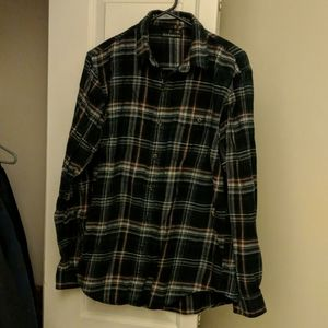 Bass & co flannel green